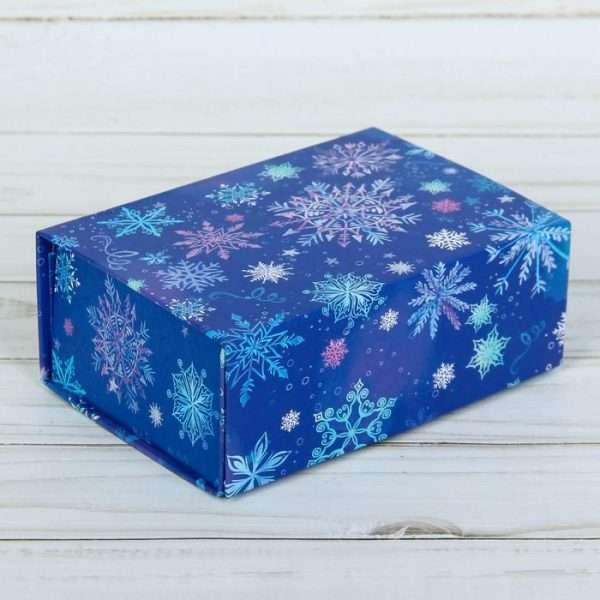 Подарочная коробка‒трансформер «Снежинки» (25 х 20 х 11 см)