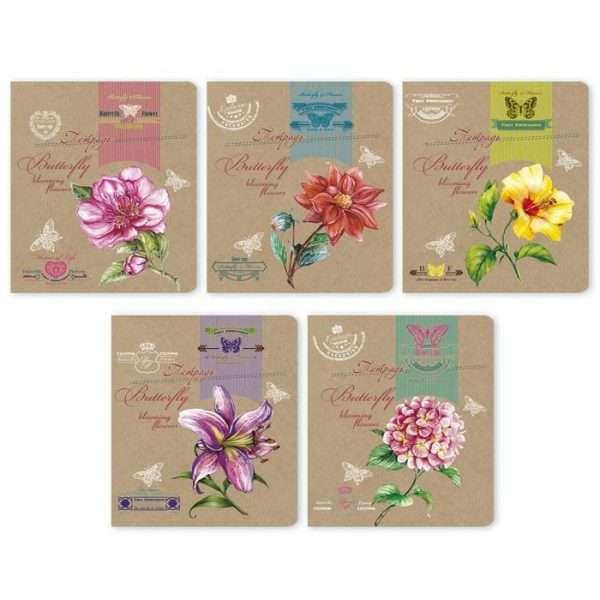 """Тетрадь """"Яркие цветы"""", А5, 48л"""