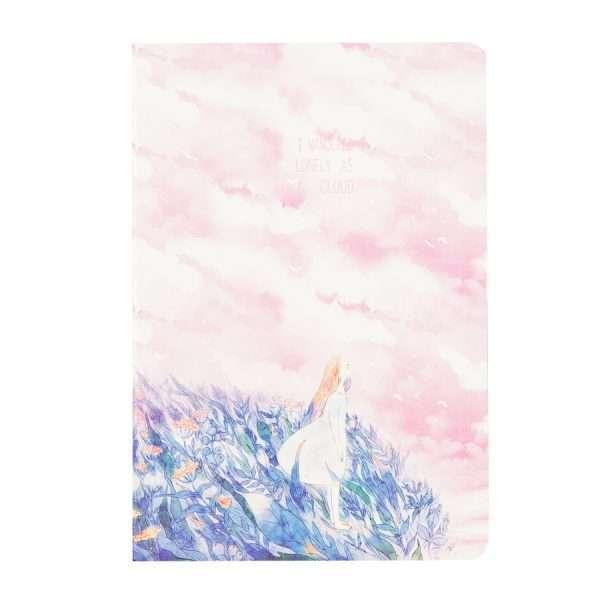 """Тетрадь """"Lonely clouds"""" (розовая)"""