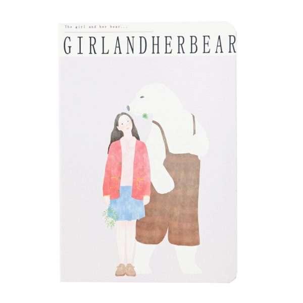 """Тетрадь """"Girl and bear"""" (сиреневая)"""