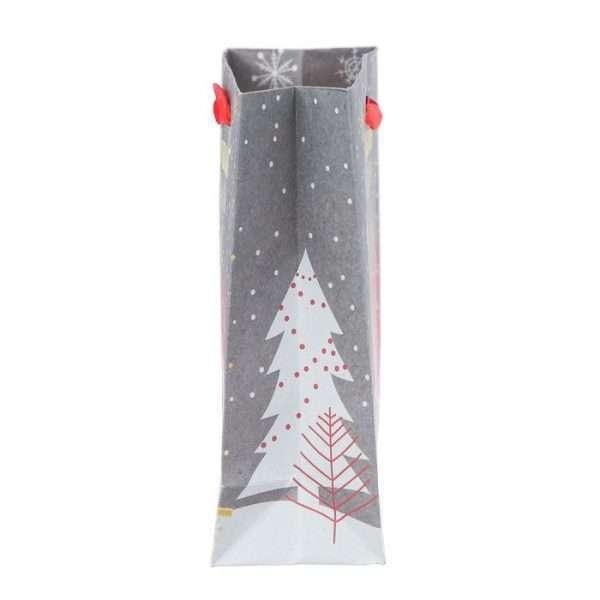 Пакет крафтовый «Новогодние ёлки», 12×15×5,5 см