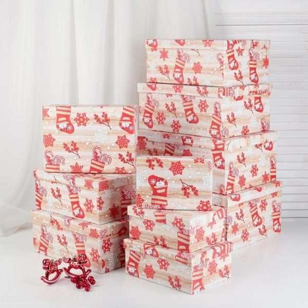 """Коробка """"Новогодний сапог"""" (20,5*14*8,5см)"""