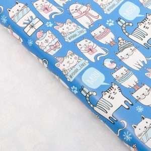 Бумага упаковочная глянцевая «Весёлые коты»