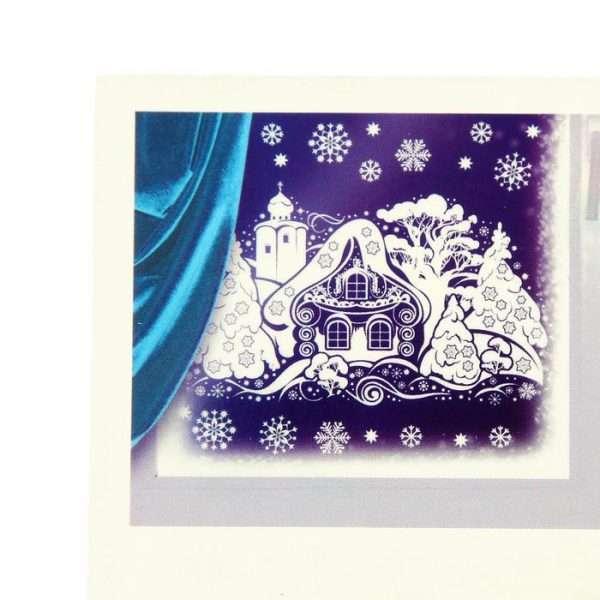"""Наклейки на окна """"Зимний дом"""""""