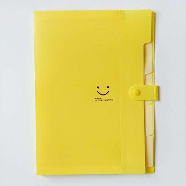 """Папка-конверт на кнопке """"Candy color"""" (розовый), A4"""