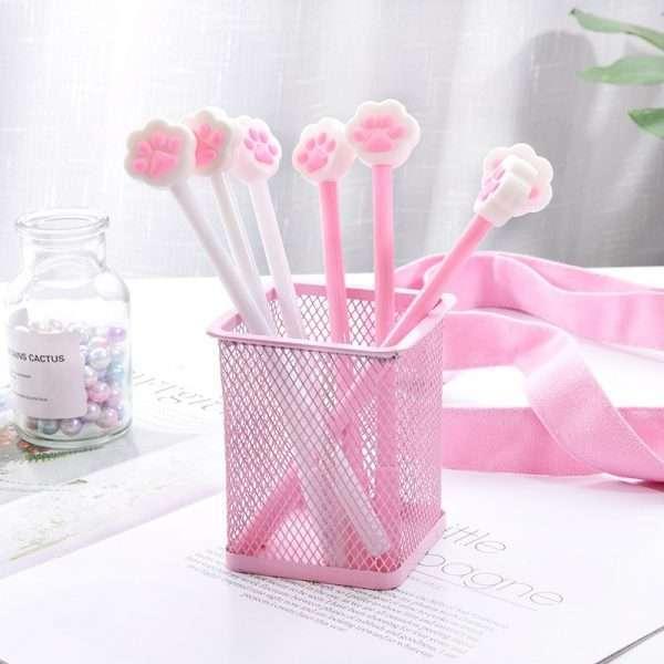 Ручка гелевая «Cat paw» (розовая)
