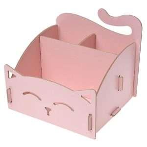"""Настольный органайзер """"Cat"""" (розовый)"""