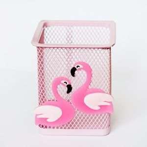 """Подставка для канцелярии """"Фламинго"""" (2 фламинго)"""