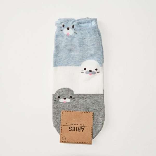"""Носки """"Cute animals"""" (тюлени)"""