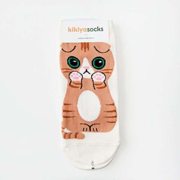 "Носки ""Cute cat"" (серые)"