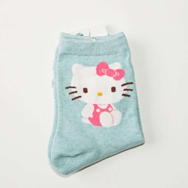 "Носки ""Hello Kitty"" (голубые)"