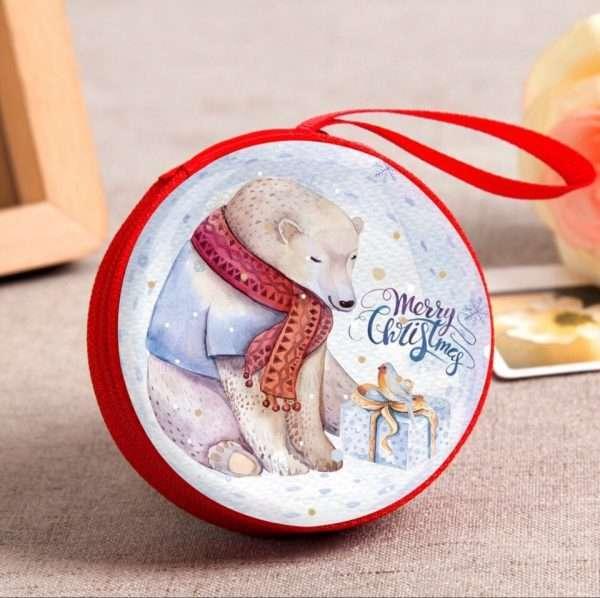 Новогодняя подвеска-кошелек (снеговик)