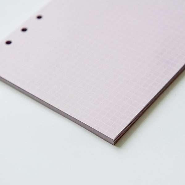"""Сменный блок для органайзера """"Pastel"""", А5 (фиолетовый)"""