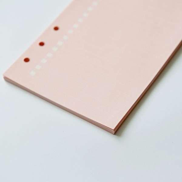 """Сменный блок для органайзера """"Pastel"""", А6 (розовый)"""