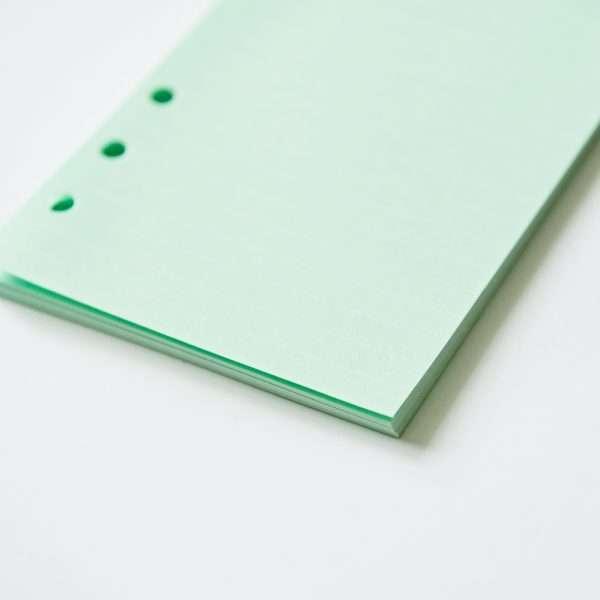 """Сменный блок для органайзера """"Pastel"""", А6 (зеленый)"""