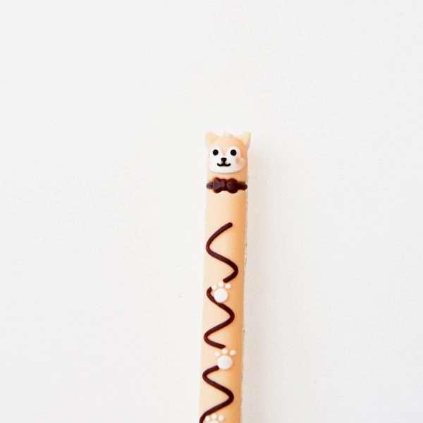"""Ручка гелевая """"Pet chocolate"""" (сиреневый кот)"""