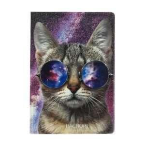 """Обложка для паспорта """"Кот в очках"""""""