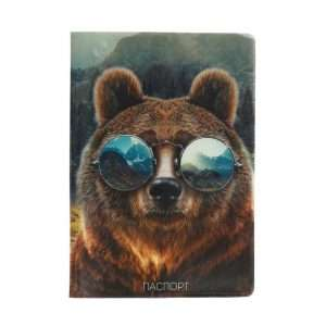 """Обложка для паспорта """"Медведь в очках"""""""