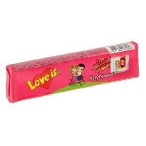 """Жевательные конфеты """"Love is"""" (клубника)"""