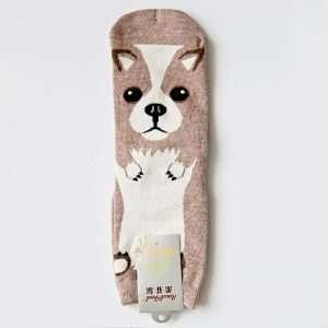 """Носки женские """"Cute dog"""" (серые)"""