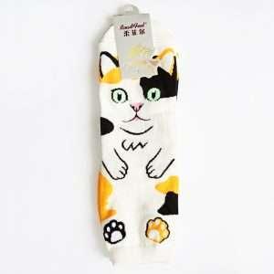 """Носки женские """"Cute cat"""" (черные)"""