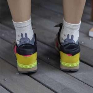 """Носки женские """"Totoro"""", высокие (бежевые)"""