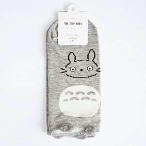 "Носки женские ""B&W animals"" (серый кот)"