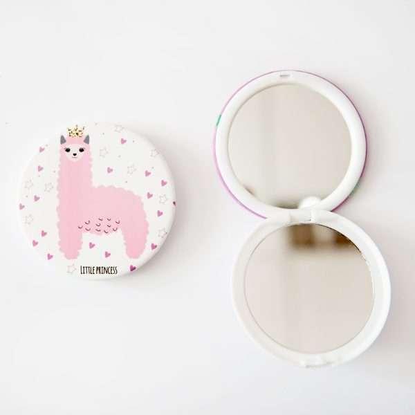 Зеркало складное «Ламы» (темно-розовое)