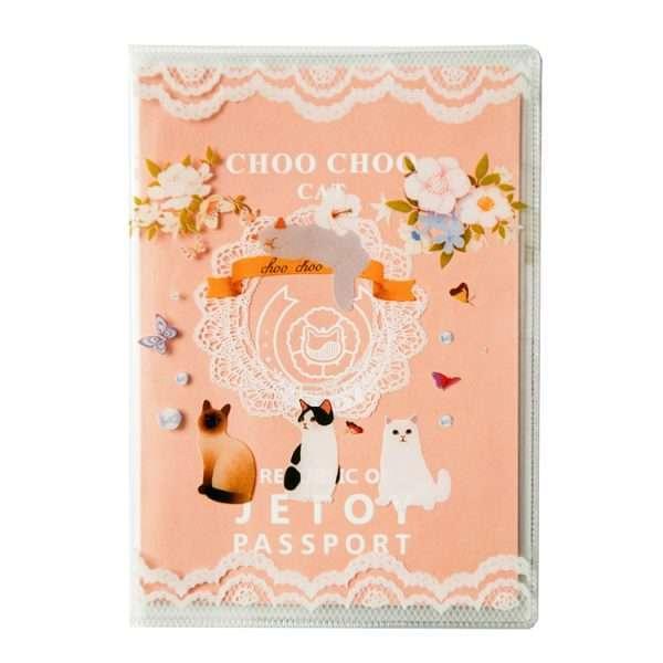"""Обложка для паспорта """"Choo choo cat"""""""