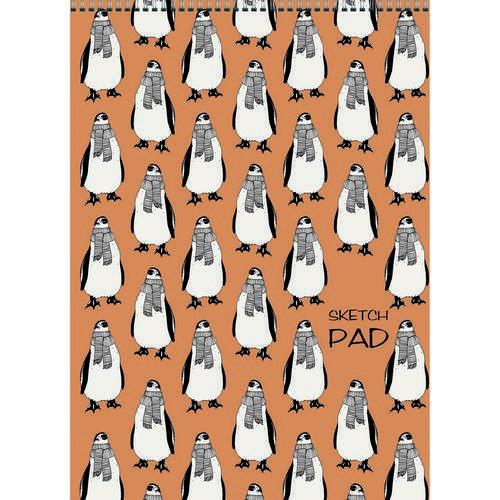"""Скетчпад """"Пингвины"""", А4, 40л"""