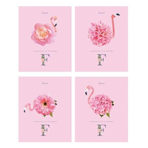 """Тетрадь """"Розовый фламинго"""", А5, 96л"""