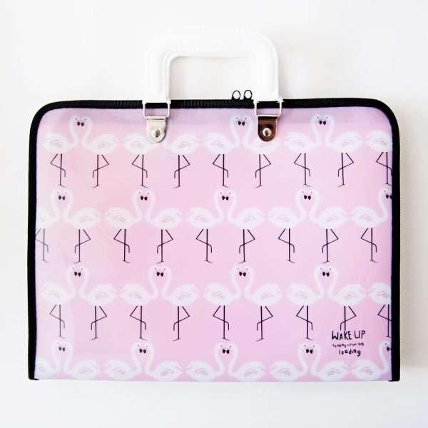 """Папка-портфель """"Фламинго"""""""