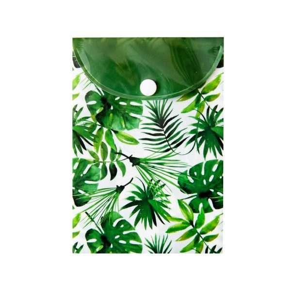 """Папка-конверт на кнопке """"Пальмовые листья"""", А6"""