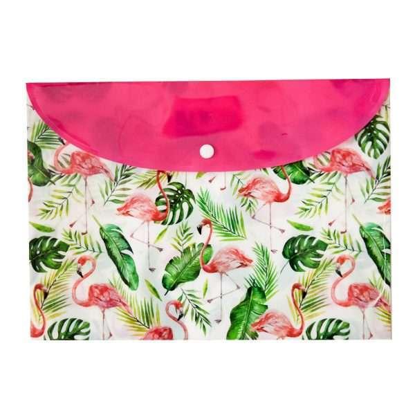 "Папка-конверт на кнопке ""Фламинго"", А4"