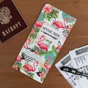 """Конверт для путешествий """"Мечтай, люби и путешествуй!"""""""