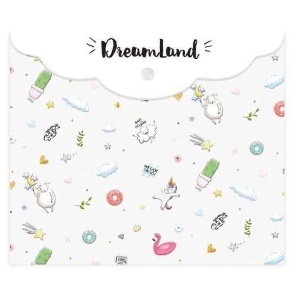 """Папка-конверт """"Dreamland"""" (прозрачная), А5"""