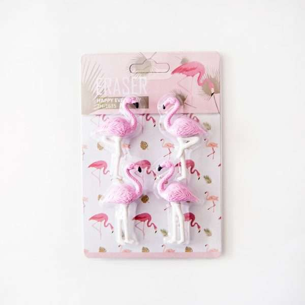 "Ластик ""Фламинго"", 4 шт. (розовый)"
