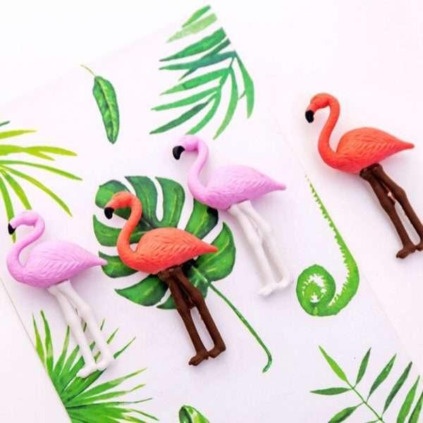 "Ластик ""Фламинго"", 4 шт. (коралловый)"