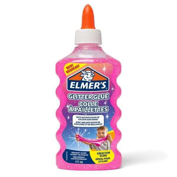 Клей для слаймов с блестками Elmer's/Элмерс (розовый), 177мл
