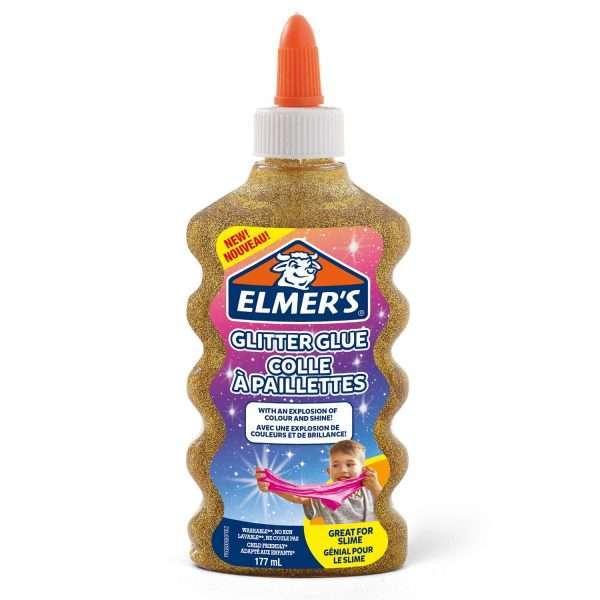 Клей для слаймов с блестками Elmer's/Элмерс (золотой), 177мл