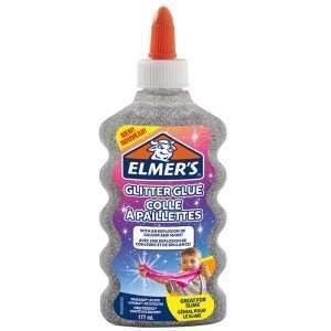 Клей для слаймов с блестками Elmers (серебряный)