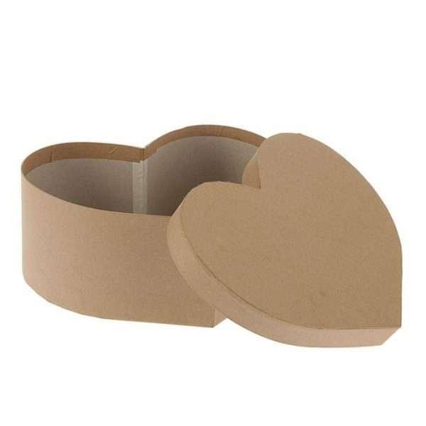 """Подарочная коробка """"Крафт,сердце"""" (29 х 24 х 12 см)"""