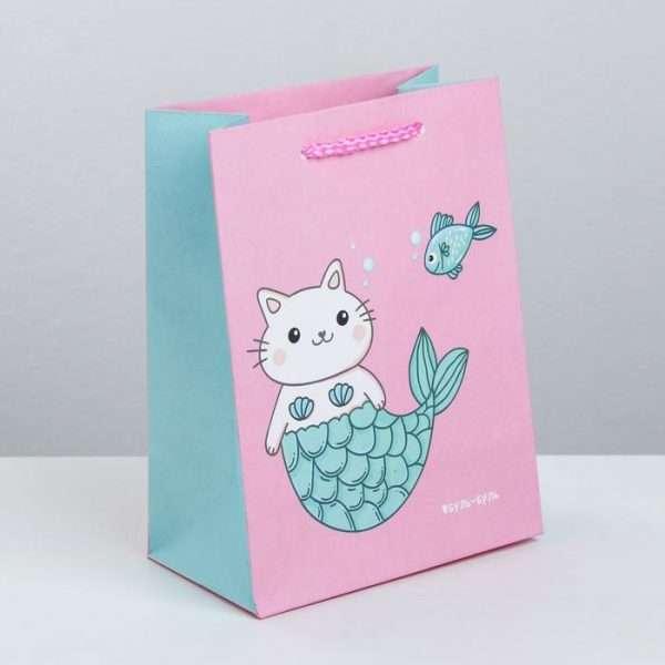 Пакет подарочный «Буль-буль», 14,5×19,5×8,5 см