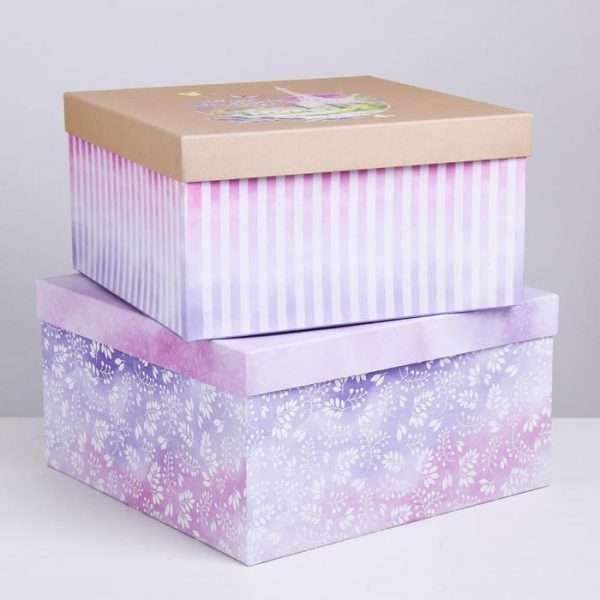 Подарочная коробка «Прованс» (28,2*28,2*15)