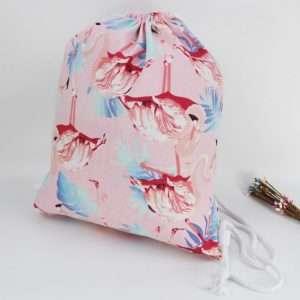 """Сумка-мешок для сменной обуви """"Фламинго-2"""" (черный)"""