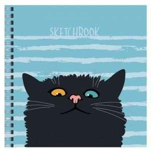 """Cкетчбук """"Любопытный кот"""", 50л"""