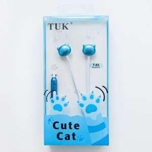 """Наушники TUK """"Cute Cat"""" (синие)"""