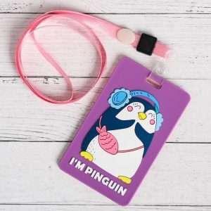 """Чехол резиновый для бейджа """"I'm pinguin"""""""