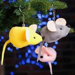 """Мягкая игрушка-брелок """"Мышка"""" (серая)"""