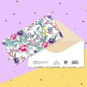 """Конверт для денег """"Тропические цветы"""""""